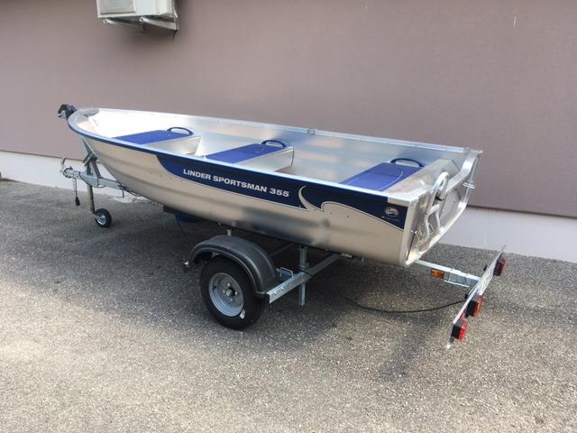Barque pêche alu Linder 355 Sportsman