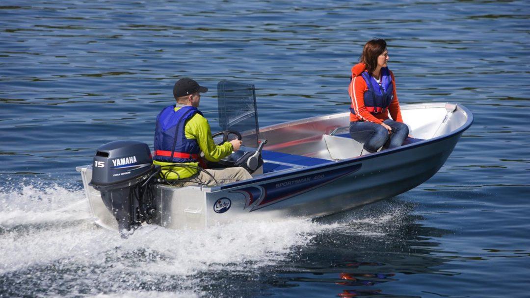 Barque pêche alu Linder 400 Sportsman