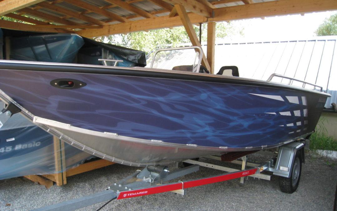 BARQUE DE PECHE ALU – BREMA 450V FISHING – PRO C (avec console + vivier)
