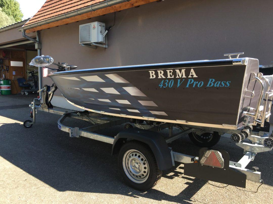 BARQUE DE PECHE ALU – BREMA 430V BASS BOAT AVEC VIVIER